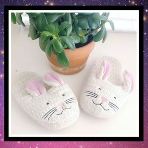 Youth Warm Winter Knit Bunny Slippers #300b